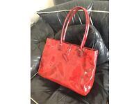 Elizabeth Arden red pvc handbag