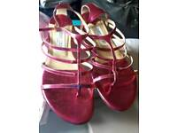Size 5 ladies Jimmy Choo sandals in pink