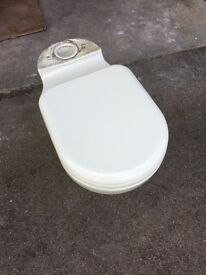Stelrad Doulton Used (Discontinued) Toilet & Cistern (no lid) & matching soap dish.
