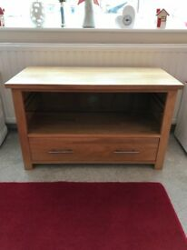 Tv unit, solid oak, must sell, offers welcome, ex cond