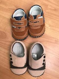 Two brand new little blue lamb 6-12 (2.5) shoes