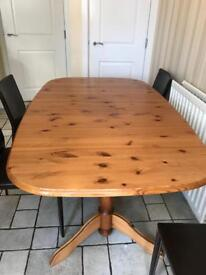 Solid Pine Antique Extending Large Table
