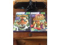 Xbox 360 Kinect with 2 immaculate games.