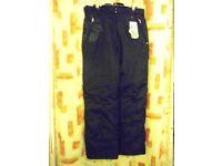Ladies Peak Mountain Padded Ski Trousers. Black – Size 16