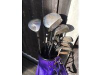 Full set of golf clubs (TaylorMade, Dunlop, Slazenger)