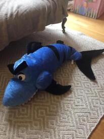 Shark bean bag soft toy