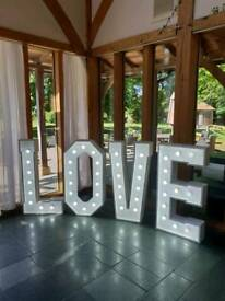 Light Up 4ft LOVE Letters For Hire £90