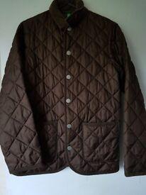 Brown benetton boys coat.