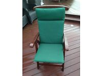 Teak Folding Garden Chairs and cushions- Free table