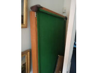 Pool Table with Cue and Balls