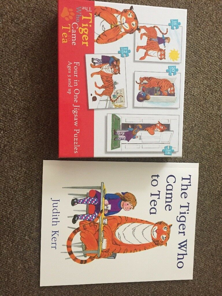 The Tiger who came for tea puzzles and book set