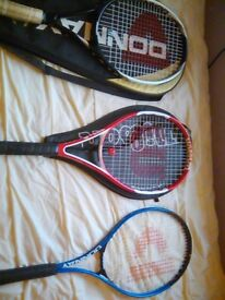 Three tennis rackets for sale