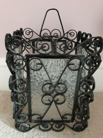 Lightshade glass and wrought iron