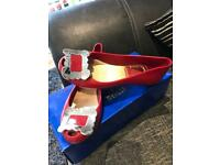 Vivienne Westwood red buckle shoes