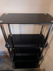 4 Tier Glass Living room shelving unit. £30 obo