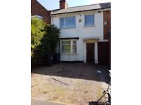 Erdington. House with 3 good sized upstairs bedrooms, central heating, double glazing, drive etc