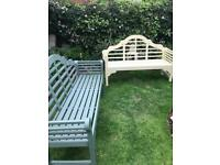 Benches freshly painted Cuprinol garden shades Choice of two