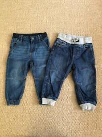 Polarn O Pyret soft denim jeans 12-18mths