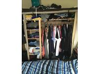 Fabric covered wardrobe