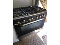 Kenwood Black 90cm Gas Range Cooker Excellent Condition Fully Working £245 Sittingbourne