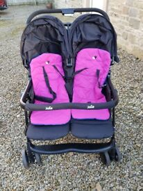 Joie Aire Twin Stroller (Pink/Blue)