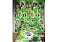 Kids Ben 10 Lined Curtains & Duvet Cover and hanging storage - Brand New,