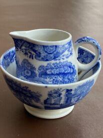 Copeland Spode small jug and bowl