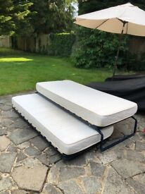 Trundle Bed and Two Single Mattresses