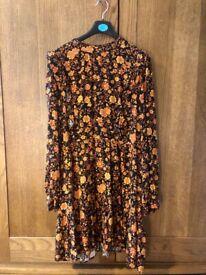 Autumnal coloured Warehouse dress