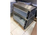 Hot Display Cabinet Double Deck Compact Chicken Heated Display like Henny Penny HCW