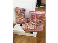 Pink floral never worn ugg boots