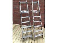 Wooden Step Ladders - 2 sets - Decorative/Wedding