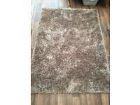 Large dunelm mink rug