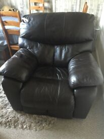 Single brown leather chair ... good condition