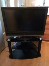 """32 """"Panasonic tv and stand"""