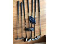 Junior Golf Clubs & Jack Nicklaus Standing Bag - 5,7 ,Pitcher Irons, 1 & 3 Drivers, 2 Putters
