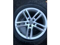 "Original Audi A5 s line alloys 18"" with great tyres"