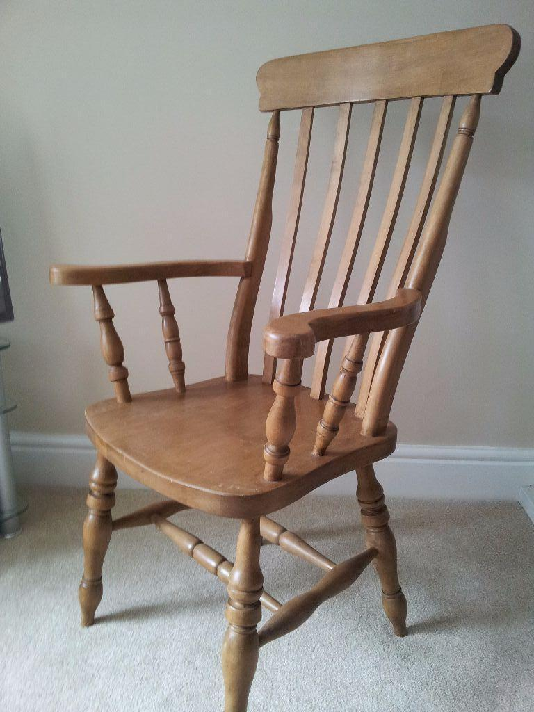 Solid Oak Pair Of Carver Chairs In Crewe Cheshire Gumtree