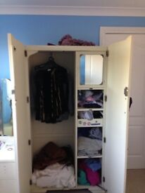 Solid wardrobe perfect for a restoration project