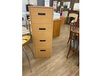 Wood effect filing cabinet