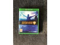 Xbox one guitar hero game and 2 guitars