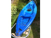 Go sea single sit on top kayak and paddle. New drain plug just fitted.