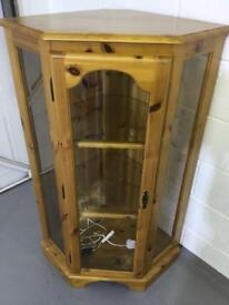 Pine glass corner unit