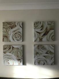 Set of four canvases