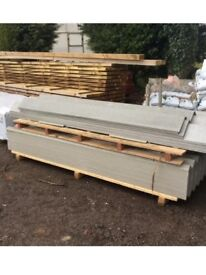 """5ft Fibre cement corrugated roofing sheet fully compressed 6"""" profile"""