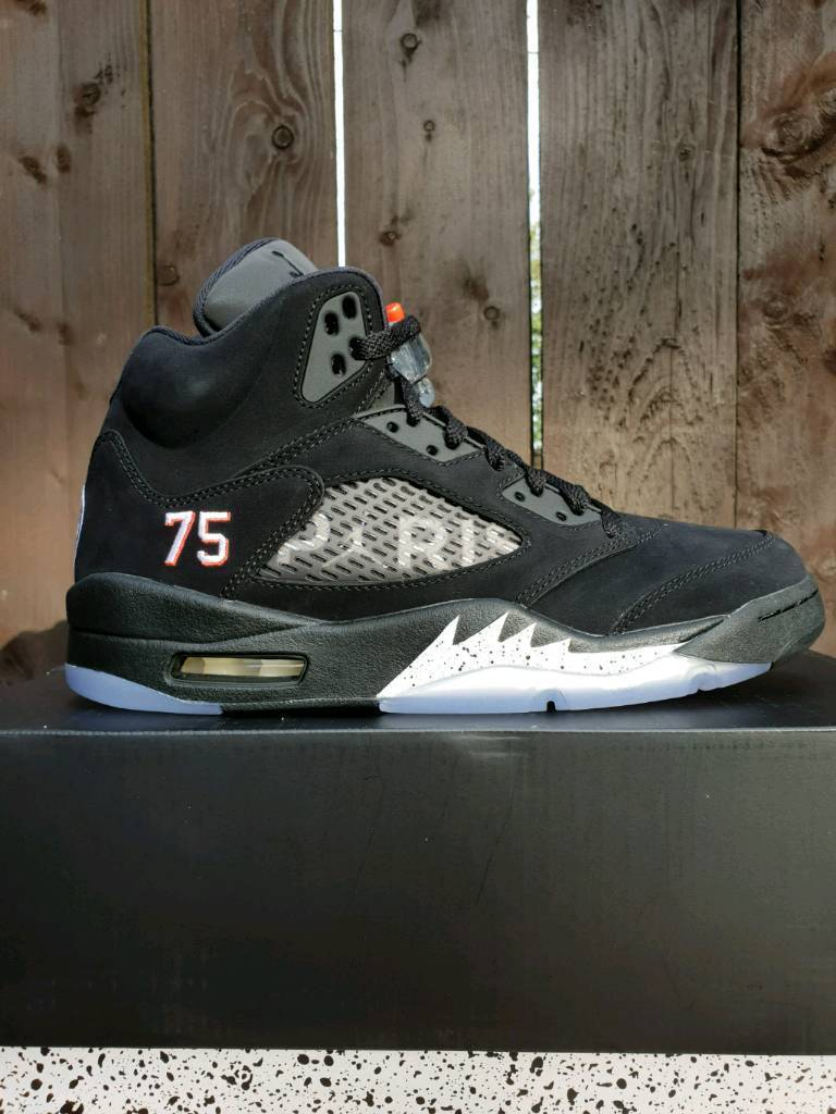 f4262c9449e52a MENS NIKE AIR JORDAN 5 X PSG Paris saint - germain SIZE 8 UK ...