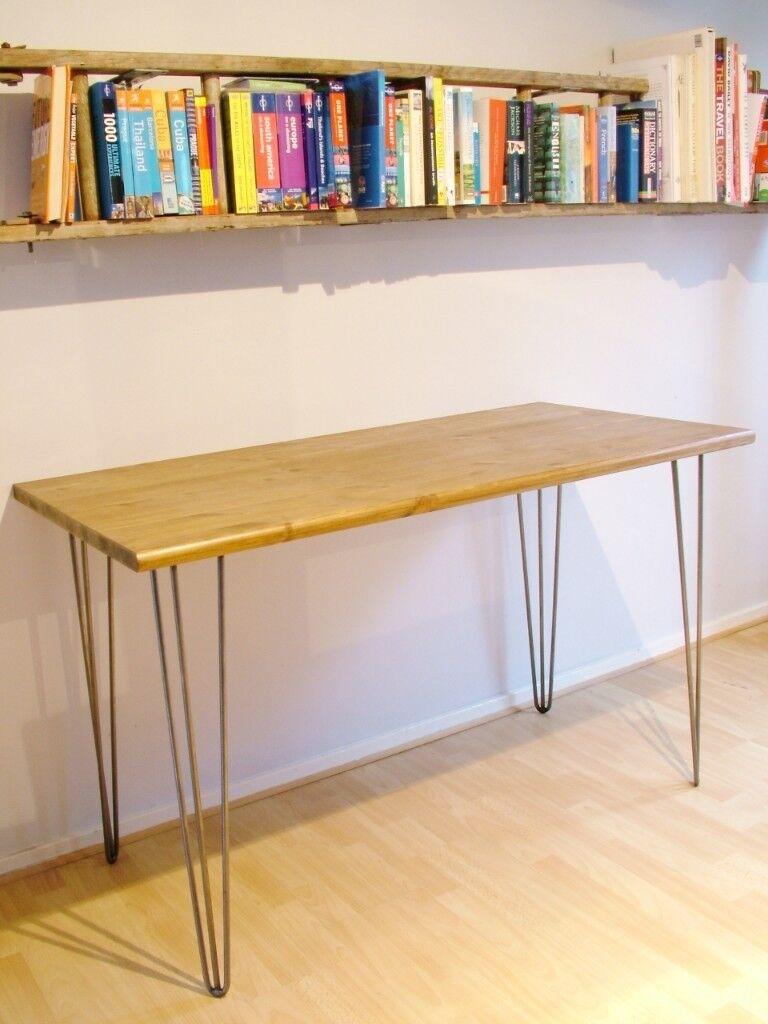 Bespoke handmade wooden oak table / desk. 135