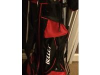 Left hand child golf club in bag