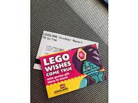 2 legoland tickets for 11th July