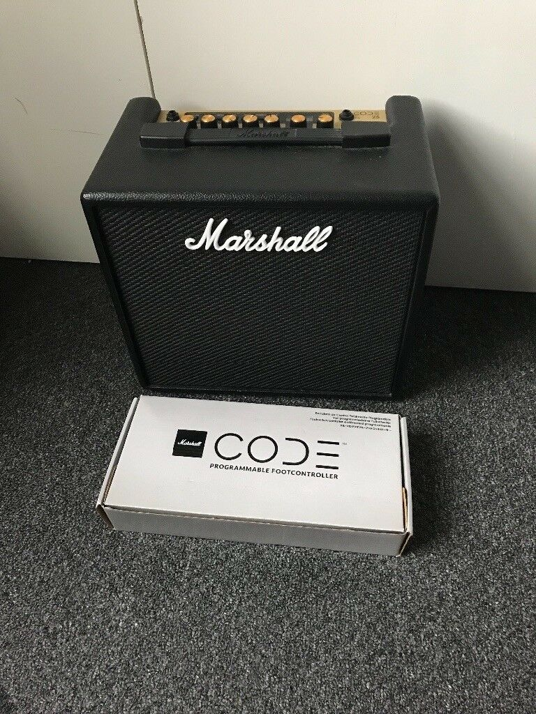 Marshall Code 25 Amp and Marshall Programmable Footcontroller